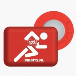 Magnesy BibBits - biegacz / czerwony