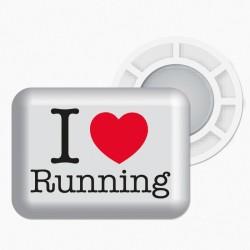 Magnesy BibBits - I love running / biały