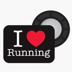 Magnesy BibBits - I love running / czarny
