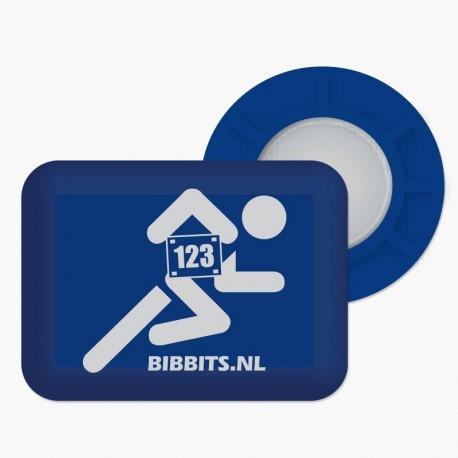 Magnesy BibBits - biegacz / granatowy