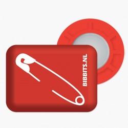 Magnesy BibBits - agrafka / czerwony