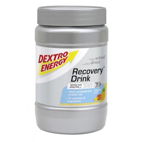 Recovery Drink Regeneracyjny napój regeneracyjny z witaminami i magnezem o smaku owoców tropikalnych PUSZKA 356g
