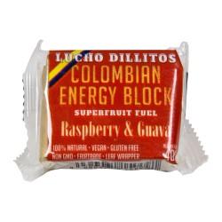 Lucho Dillitos Raspberry kostka energetyczna z gujawy z maliną 40 g