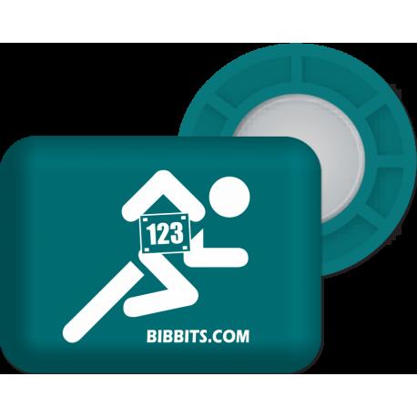 Magnesy BibBits - biegacz / petrol