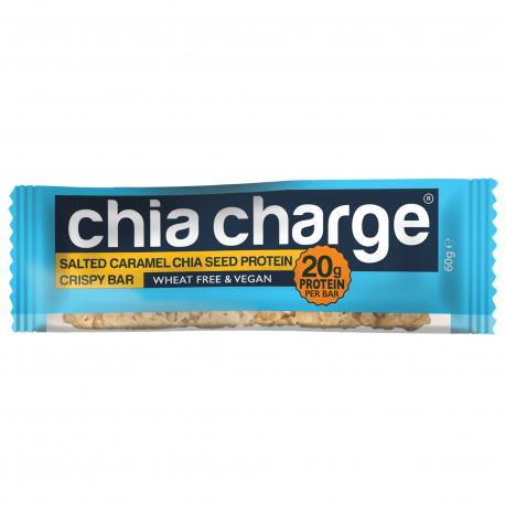 Chia Charge Protein Crispy Bar - Salted Caramel - baton białkowy słony karmel z nasionami chia 60g
