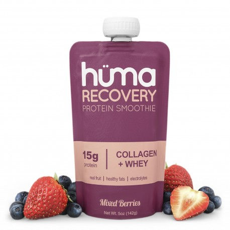 Huma Recovery regeneracyjny żel białkowy z kolagenem - truskawka-borówka 142g