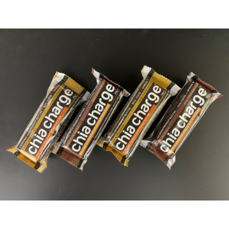 ZESTAW 4 x Chia Charge Peanut Butter / Cacoa Flapjack 4 x 50g