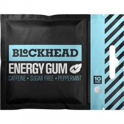 BlockHead guma energetyczna z kofeiną i żeńszeniem - 10 szt. - opak. zbiorcze